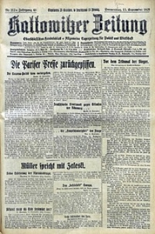 Kattowitzer Zeitung, 1928, Jg. 60, nr212