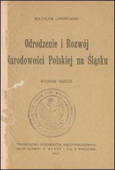 Odrodzenie i rozwój narodowości polskiej na Śląsku. - Wyd. 3
