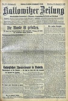 Kattowitzer Zeitung, 1928, Jg. 60, nr222