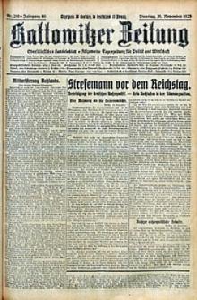 Kattowitzer Zeitung, 1928, Jg. 60, nr269