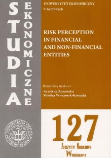Risk perception in financial and non-financial entities