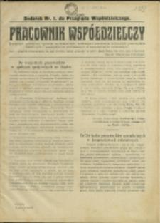 Pracownik Współdzielczy, 1922, Nry 1-4, 6-8