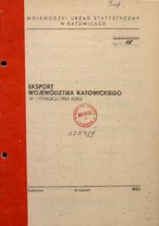 Eksport województwa katowickiego w I półroczu 1983 roku