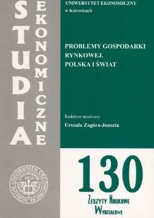 Problemy gospodarki rynkowej. Polska i świat