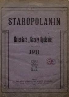 """Staropolanin. Kalendarz """"Gazety Opolskiej"""" na rok 1911"""