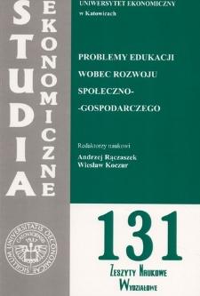 Problemy edukacji wobec rozwoju społeczno-gospodarczego