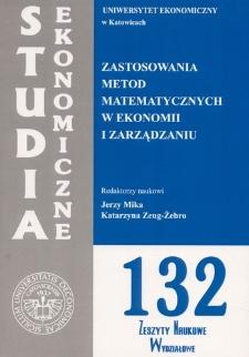 Zastosowania metod matematycznych w ekonomii i zarządzaniu