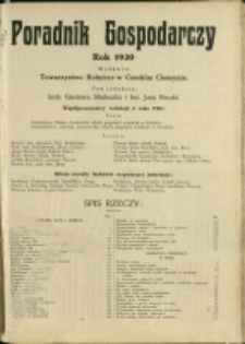 Poradnik Gospodarczy, 1930, Nry 1-12