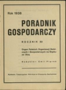 Poradnik Gospodarczy, 1938, Nry 1-3, 5-12, 15/16, 20/21-22/23