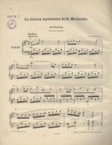 Le château mystérieux de St. Moniuszko. Le Carillon. Romance favorite = Straszny Dwór. Arya z kurantem. Op. 52