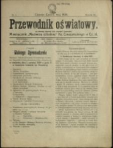 """Przewodnik Oświatowy : miesięcznik """"Macierzy Szkolnej"""" Ks. Cieszyńskiego w Cz.-Sł., 1924, Nr 1"""
