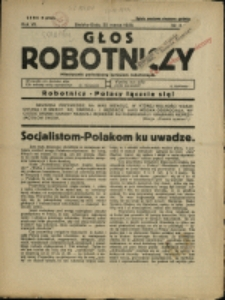 Głos Robotniczy : miesięcznik poświęcony sprawom robotniczym, 1938, Nry 3-11