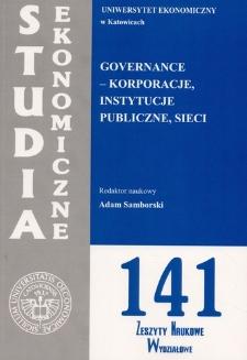 Governance – korporacje, instytucje publiczne, sieci