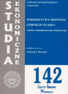 Perspektywy rozwoju Górnego Śląska. Analiza ekonometryczno-statystyczna