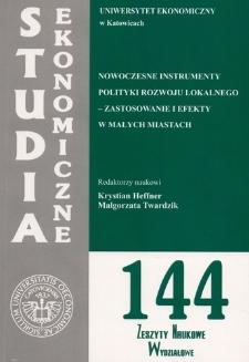 Nowoczesne instrumenty polityki rozwoju lokalnego – zastosowanie i efekty w małych miastach (cz. 2)