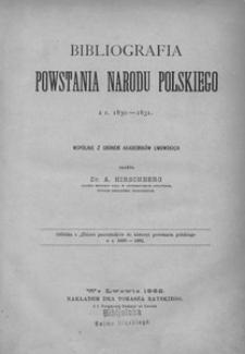 Bibliografia powstania narodu polskiego z r. 1830-1831