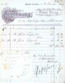 Rachunki kościoła w Krasnym Polu, parafia Opawica z lat 1903-1913.
