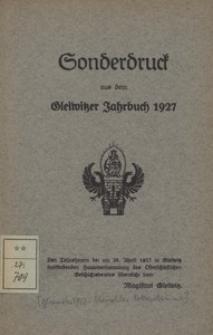 Das schwarze Buch von Gleiwitz. 1 Teil, (1582-1612)