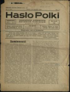 Hasło Polki : czasopismo poświęcone sprawom kobiecym, 1937, Nry 8-9
