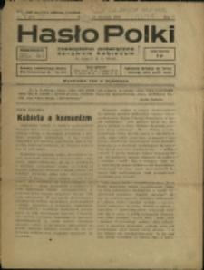 Hasło Polki : czasopismo poświęcone sprawom kobiecym, 1938, Nry 1, 3, 6, 11/12