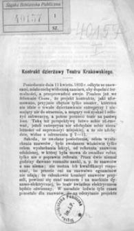 Kontrakt dzierżawy Teatru Krakowskiego