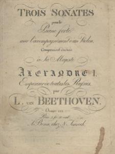 Trois Sonates pour le Piano-forte avec l'accompagnement d'un Violin. Oeuvre XXX