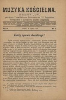 Muzyka Kościelna, 1889, R. 9, nr 2
