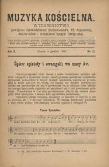 Muzyka Kościelna, 1890, R. 10, nr 12