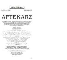 Aptekarz, 2001, Vol. 9, nr7/8