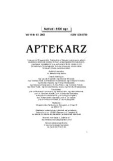 Aptekarz, 2003, Vol. 11, nr1/2