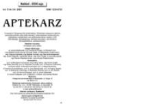Aptekarz, 2005, Vol. 13, nr3/4