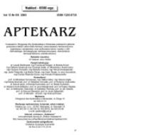 Aptekarz, 2005, Vol. 13, nr5/6