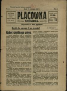 Placówka Kresowa, 1921, Nr 3
