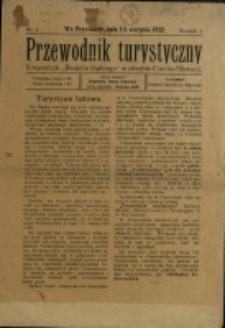 """Przewodnik Turystyczny : kwartalnik """"Beskidu Śląskiego"""" w obrębie Czecho-Słowacji, 1922/1923, Nry 1-2"""