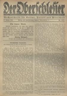 Der Oberschlesier, 1922, R. 4, nr 10/11