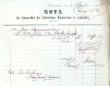 Rachunek firmowy z Banku Śląskiego z 1908 r.