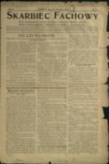 Skarbiec Fachowy : pismo dwutygodniowe, poświęcone sprawom przemysłu, handlu i rękodzieł, 1912, Nr 1