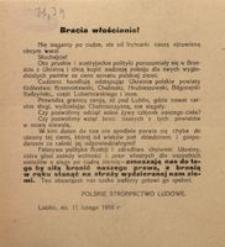 Bracia włościanie! Lublin, dn. 11 lutego 1918 r.