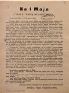 Towarzysze i Towarzyszki! Warszawa, Kwiecień 1917. Polska Partia Socjalistyczna