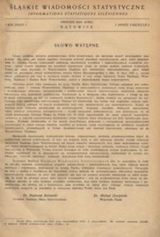 Śląskie Wiadomości Statystyczne, 1934, R. 1, z. 1