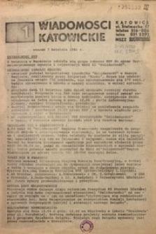 Wiadomości Katowickie, 1981, nr 1