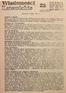 Wiadomości Katowickie, 1981, nr22