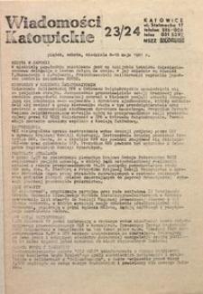 Wiadomości Katowickie, 1981, nr23/24