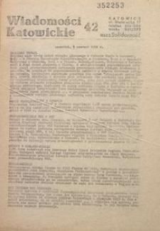 Wiadomości Katowickie, 1981, nr42