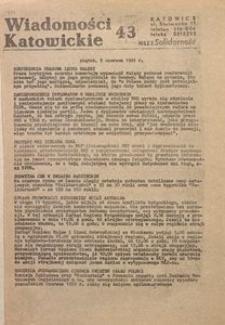 Wiadomości Katowickie, 1981, nr43