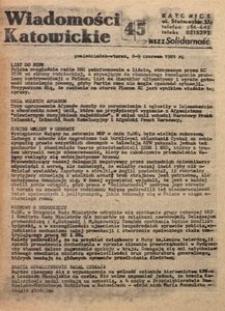 Wiadomości Katowickie, 1981, nr45
