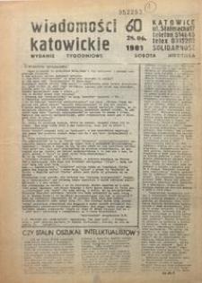 Wiadomości Katowickie, 1981, nr60