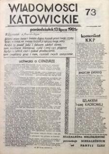 Wiadomości Katowickie, 1981, nr73