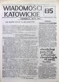 Wiadomości Katowickie, 1981, nr85
