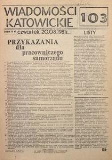 Wiadomości Katowickie, 1981, nr103